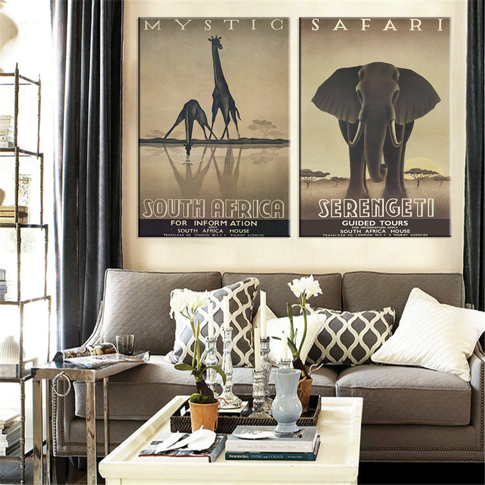 Popular african art animals buy cheap african art animals lots from china african art animals - Elephant decor for living room ...