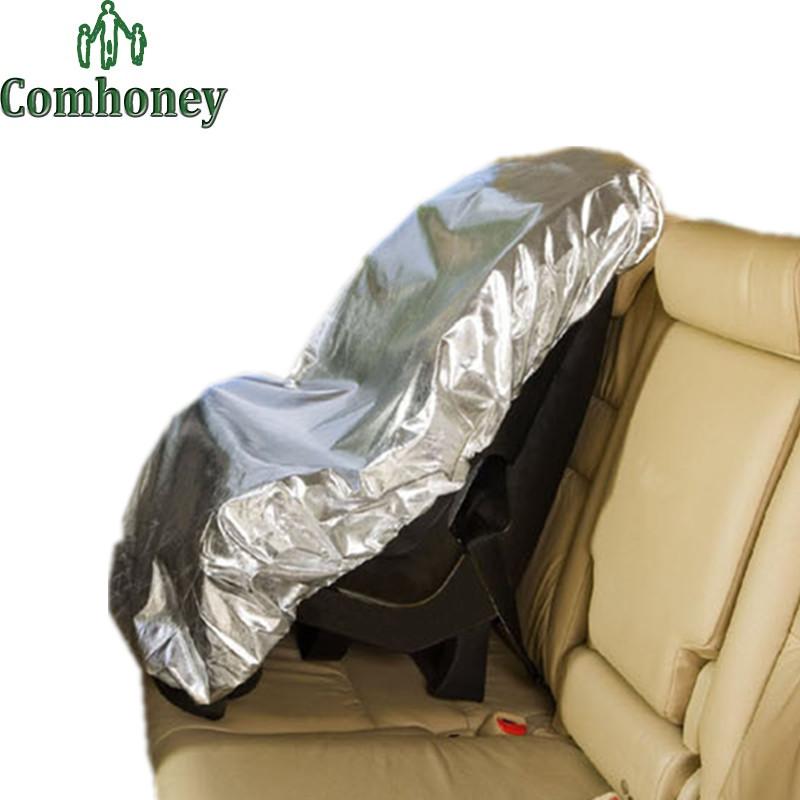 Baby Car Safety Seat Sunshade Cover Silver Aluminum Baby Kids Car Safety Seats Sun Shade Sunshine Protector Cover Reflector(China (Mainland))