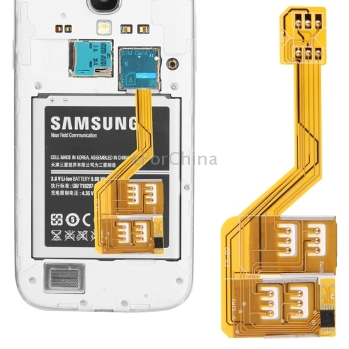 Three SIM Card Adapter for Samsung Galaxy S5 / S4 / S3 / Note 4 /Note III / Note 2 / Note / Mega 6.3 / Grand 2 G7106