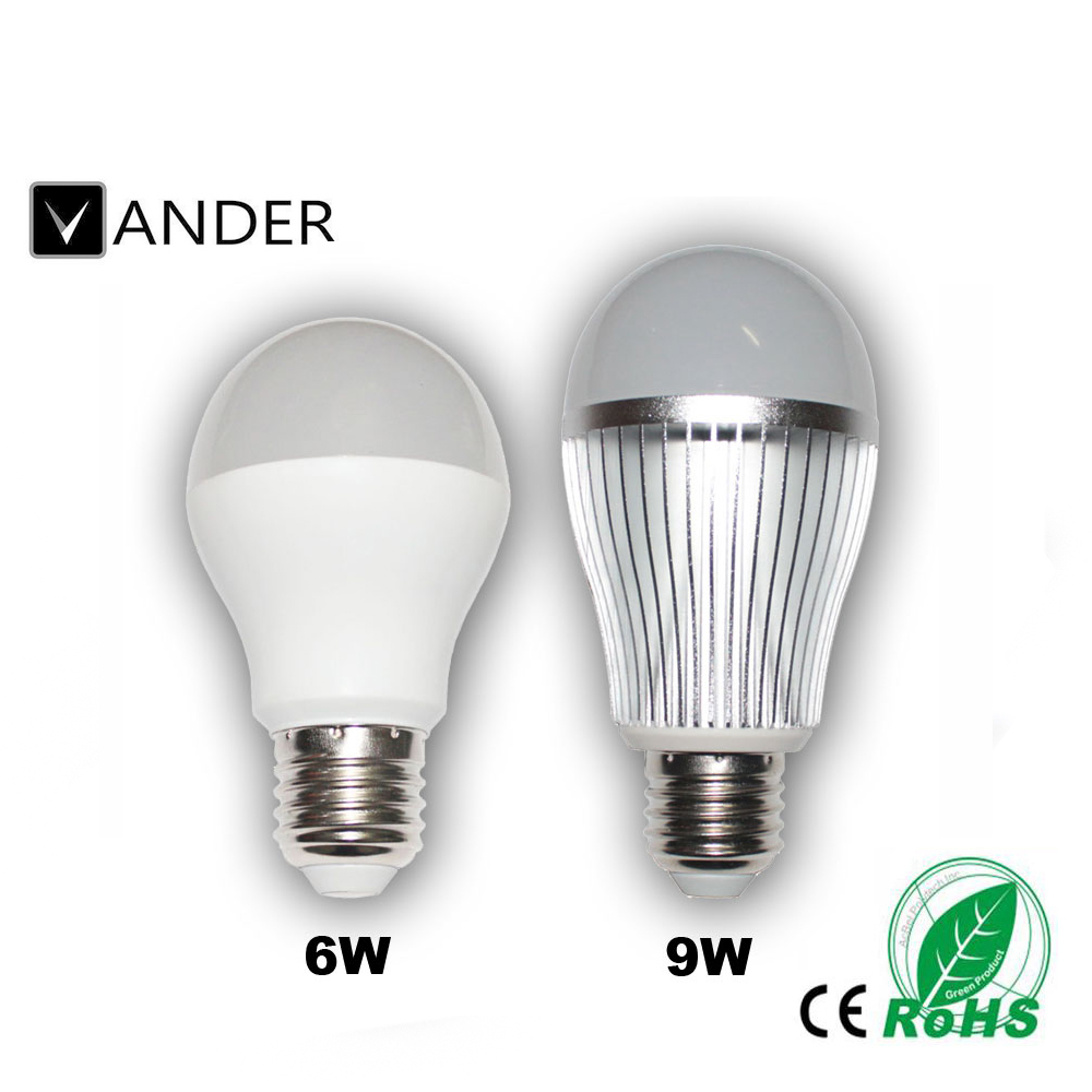 6W 9W E27 RGBW LED Bulb Color Light RGB White Timing Function Dimmable LED Lamp with Remote Controller Dimmer(China (Mainland))