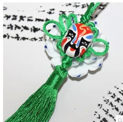 22cm Large Peking Opera Chinese new year supplies knot pendant ornaments China trumpet mask wind crafts gifts(China (Mainland))