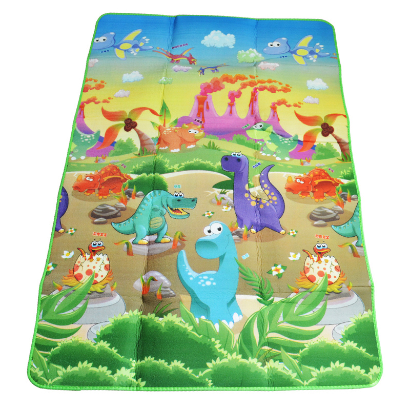 Baby Play Mat 180*120*0.5cm Double Side Dinosaur+Animal Car Children Floor Carpet Kids Crawling Rugs Baby Game Pad Gym Cushion(China (Mainland))