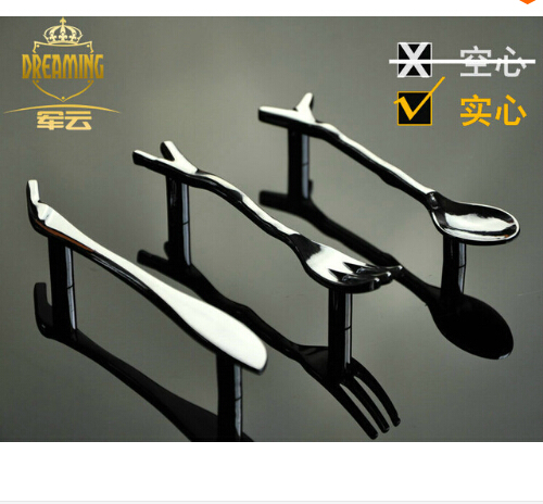Cutlery knife and fork spoon handle cabinet handle cartoon super personality shine Silver modern furniture handle(China (Mainland))