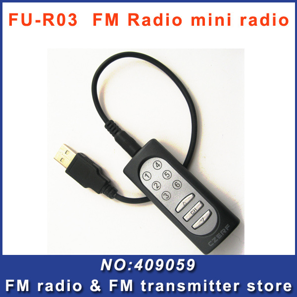 FMUSER FU-R03 FM Radio pocket mini audio receiver Fixed-frequency Stereo Portable for meering Simultaneous translation