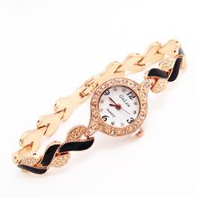 Atacado marca de moda quartzo Dress mulher strass relógios de pulso das senhoras 1E217