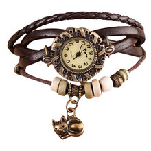 Women's Cat Pendant Stylish Watches