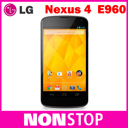 "Google Nexus 4 Original LG E960 Mobile Phone GPS WIFI 4.7"" 3G 8MP WIFI GPS 8GB/16GB Internal Memory(China (Mainland))"