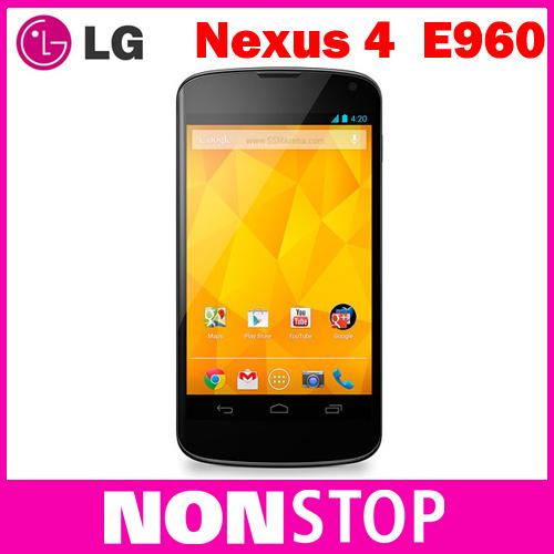 "Google Nexus 4 Original LG E960 Mobile Phone GPS WIFI 4.7"" 3G 8MP WIFI GPS 8GB/16GB Internal Memory(China (Mainland))"