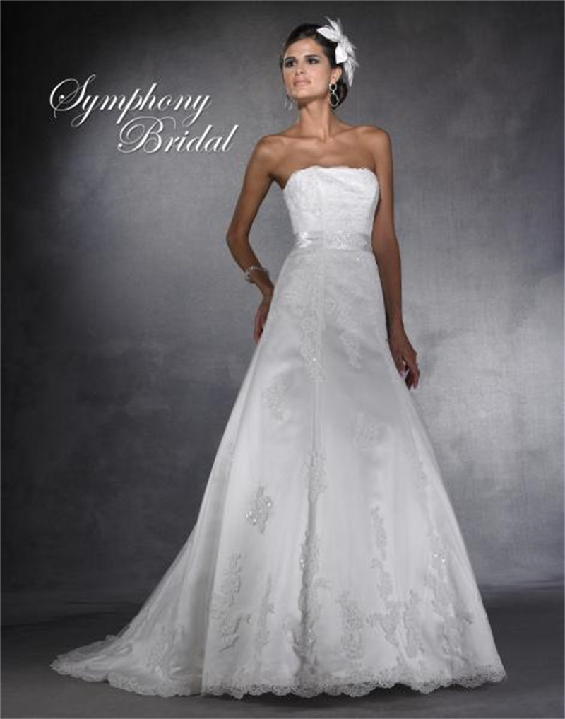 Fast shipping strapless wedding dress with sashes 2015 for Wedding dresses with sashes