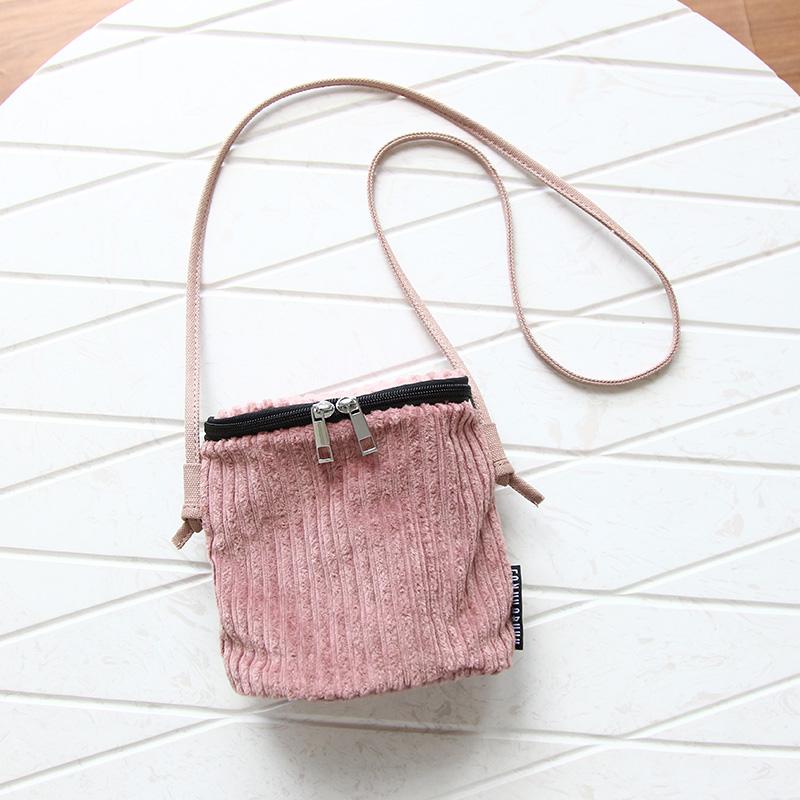 Fashion Lady Original Corduroy Messenger Bag 2016 New Mini Mobile Phone Bag Literature and Art Shoulder Bag Women Crossbody Bag(China (Mainland))