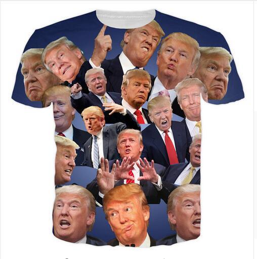 T Shirt Hot Trump 3D Slim Fit Brand Clothing Casual Streetwear Mens T Shirts Fashion 2017 Donald Trump Fitness Jersey S-5XL