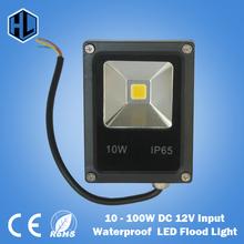 Free shipping Newest DC 12V LED luminaire light 10W 20W 30W 50W 100W IP65 LED Flood Light Floodlight LED street Lamp(China (Mainland))