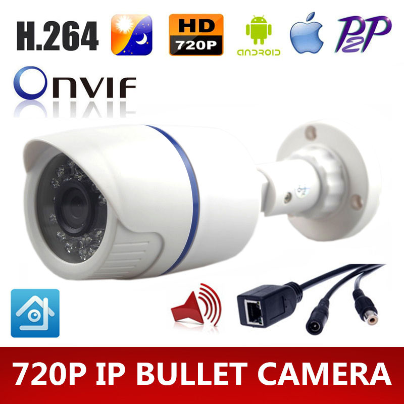 HD 720P IP camera Audio cctv security system surveillance 1.0MP IP Cam P2P ONVIF IR Audio Input With External Pickup Microphone(China (Mainland))