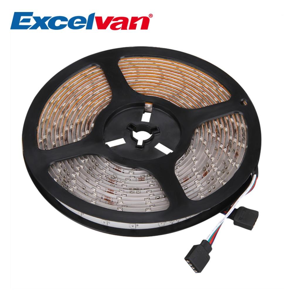 Excelvan 16.4ft 5M Waterproof LED Flexible strip SMD3528 RGB 300LEDs Color Changing LED Light Strip RGB strip lamp bulb(China (Mainland))