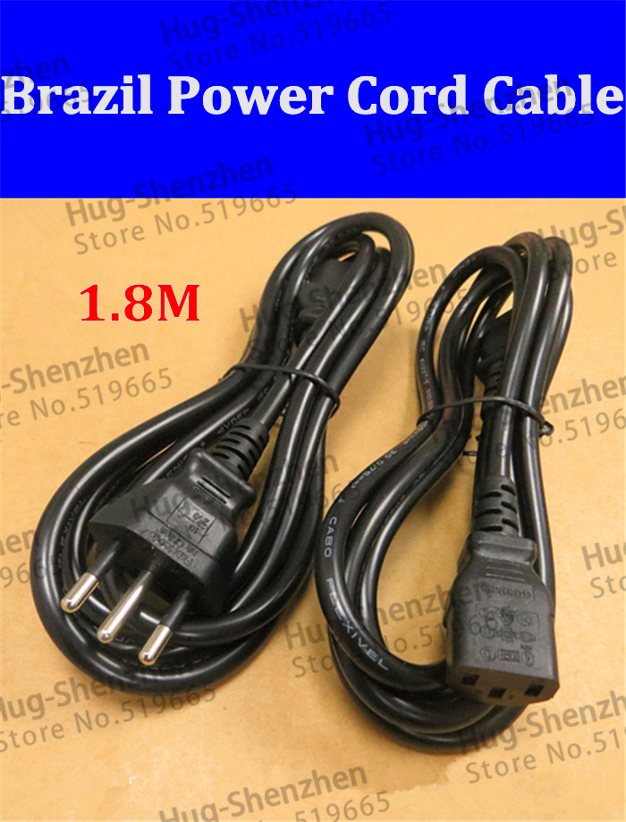 1.8m Brazil power cord cable line good AC power cord 3X0.75(China (Mainland))