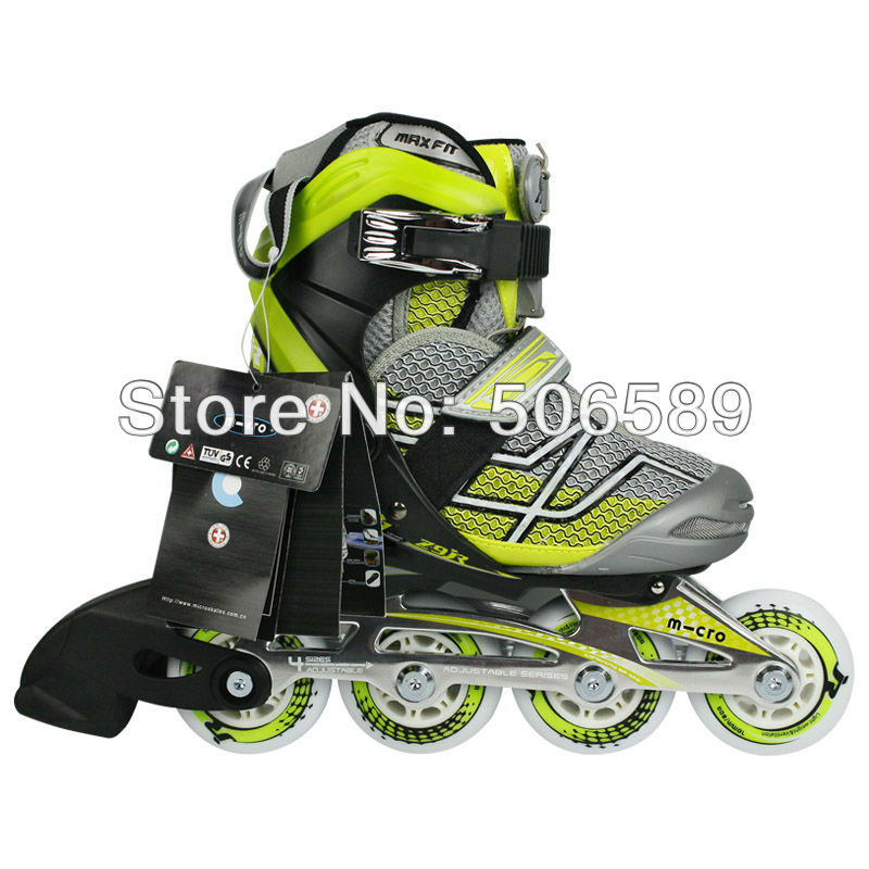 free shipping roller shoes kids z9 size adjustable 2012 design alloy frame greed and red color(China (Mainland))