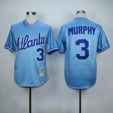 3 Dale Murphy 10 Chipper Jones 24 Deion Sanders 29 John Smoltz throwback Jerseys white red black blue gray(China (Mainland))