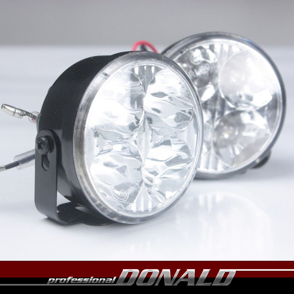 2x 12/24v 4-SMD LED Off Road Work Light For Car Auto Truck Trailer 4WD 4X4 Boat Tractor SUV DRL Daytime Running Fog Light(China (Mainland))