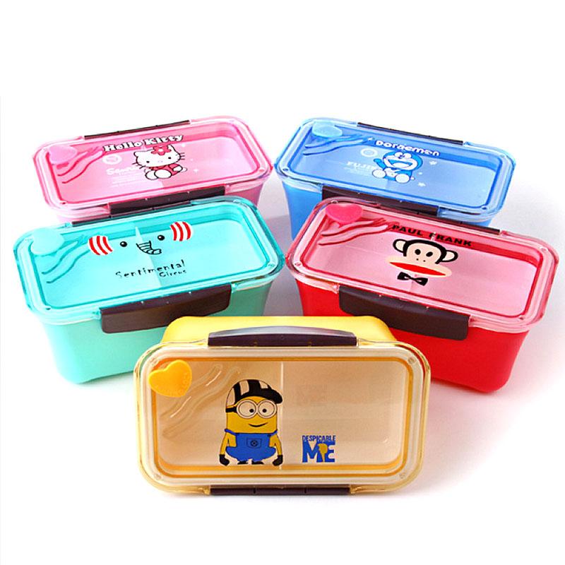 cute bento lunch box food container lonchera para almuerzo minion hello kitty. Black Bedroom Furniture Sets. Home Design Ideas
