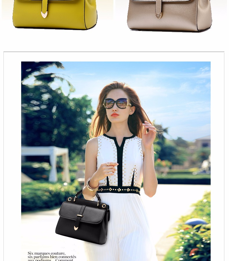 Retro Ladies Handbag Fashion Ladylike Messenger Bag Women Fab PU Leather Shoulder Bag Designer Simple Elegatn Crossbody Bag