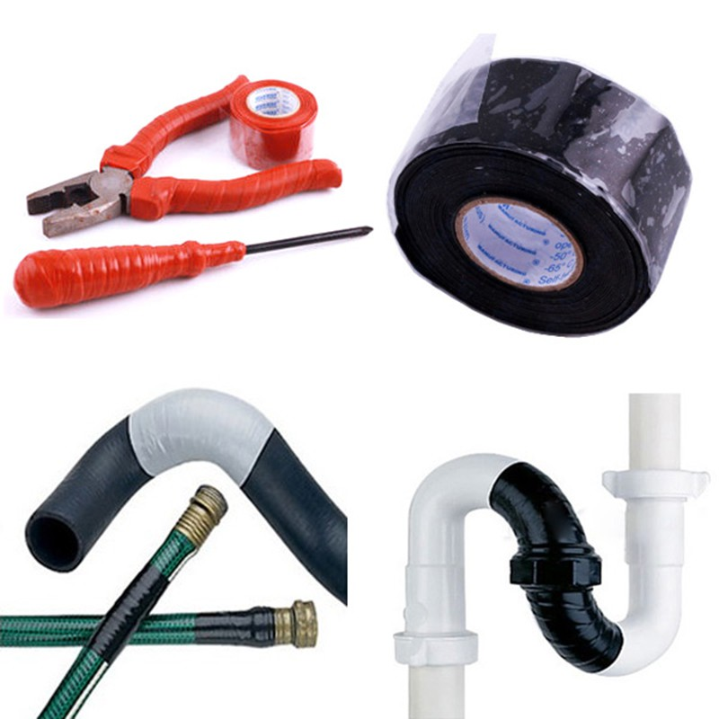 Waterproof Silicone Performance Repair Tape Bonding Rescue Self Fusing Wire Hose Black Transparent Film Tape Hot Sale
