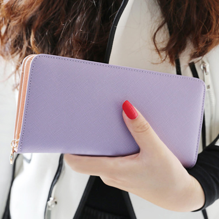 Promotion!Multifunction Wristlet Wallets Women Elegant Red Color PU Leather Lady Purse Phone bag passport holder ID Card Case Y1(China (Mainland))