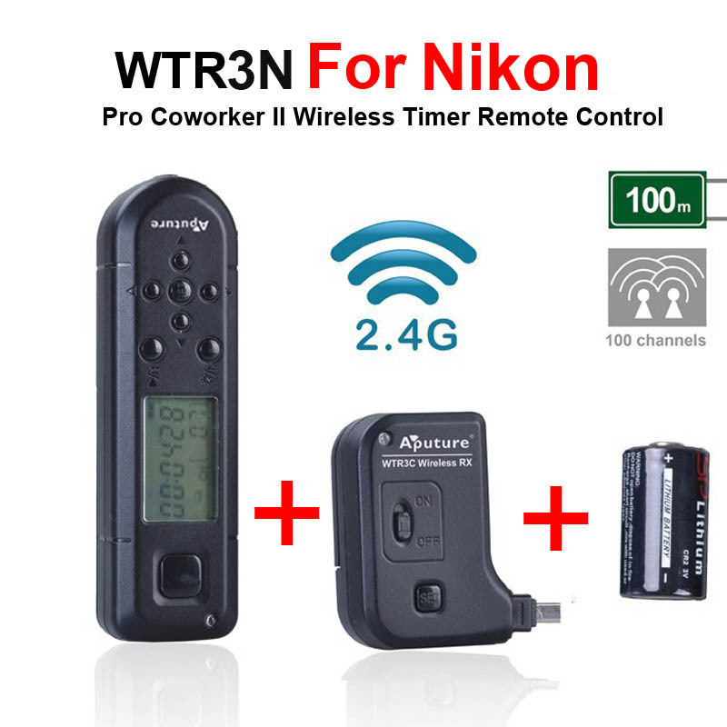 Professional Aputure Coworker II WTR3N Wireless Timer Shutter Release Remote Control for Nikon D7000 D5100 D5000 D3200 D3100 D90(China (Mainland))
