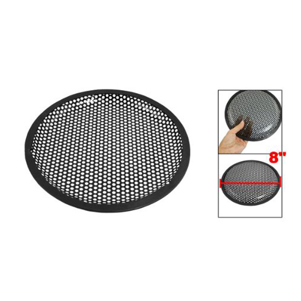 USA Stock! Universal 8 Inch Subwoofer Speaker Metal Waffle Cover Guard Grill(China (Mainland))