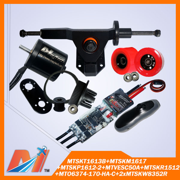 Maytech FREE SHIPPING for surf board high power dc motor 6374 170KV and remote control receiver and mount truck and esc(China (Mainland))