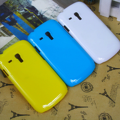 For samsung   i8910 paint pure white blue mobile phone case protective case shell protective case