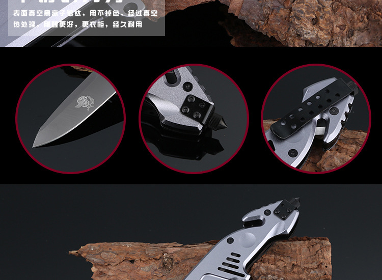 Buy X07 Multifunction Folding Knife 56HRC Hardness Tactical Camping Knife Pocket Fruit Knives Outdoor Military Survival Tools Wi cheap