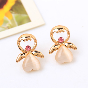2015 Fine Jewelry Earings Factory Accessories Wholesale Korean Version Of The New Fashion Cute Girl Earrings Eye Does Not Fade(China (Mainland))