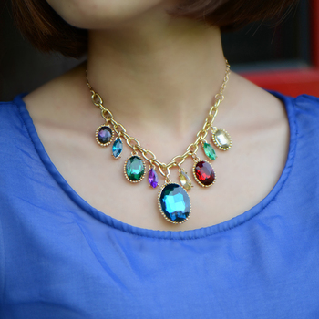 Fashion fashion necklace vintage colnmnaris chain european version of the accessories Women trend accessories