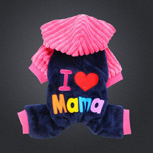 Buy Fashion love papa mama winter Pet Dog Clothes Clothing Pet Small Large Dog Coat Winter Clothes Jackets for $4.99 in AliExpress store