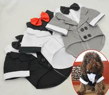 Buy 2015 New Pet Clothes Puppy Shirt Dog Wedding Tuxedo Western Style Suit Bow Tie Apparel Clothing Dogs Coat Free for $6.41 in AliExpress store