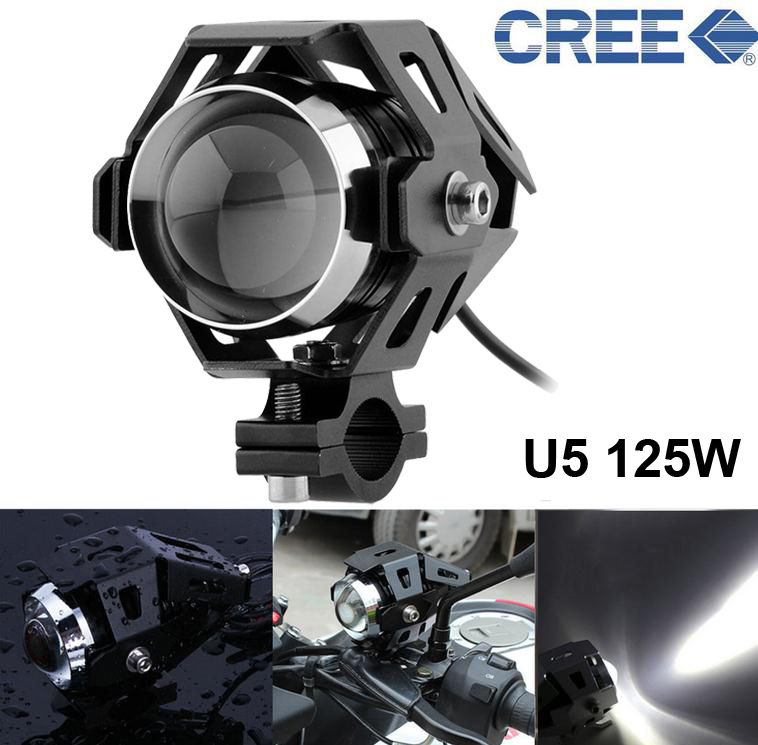 Гаджет  A Pair CREE U5 125W Waterproof  Motorcycle LED Driving Fog Head Spot Light Cool White Lamp Headlight Bulb New None Автомобили и Мотоциклы