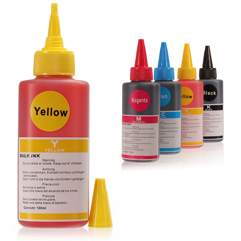 100ML Colorful Compatible Refill Ink universal for HP for Canon for Samsung and Other Brand Printer Cyan Magenta Ink Cartridges(China (Mainland))