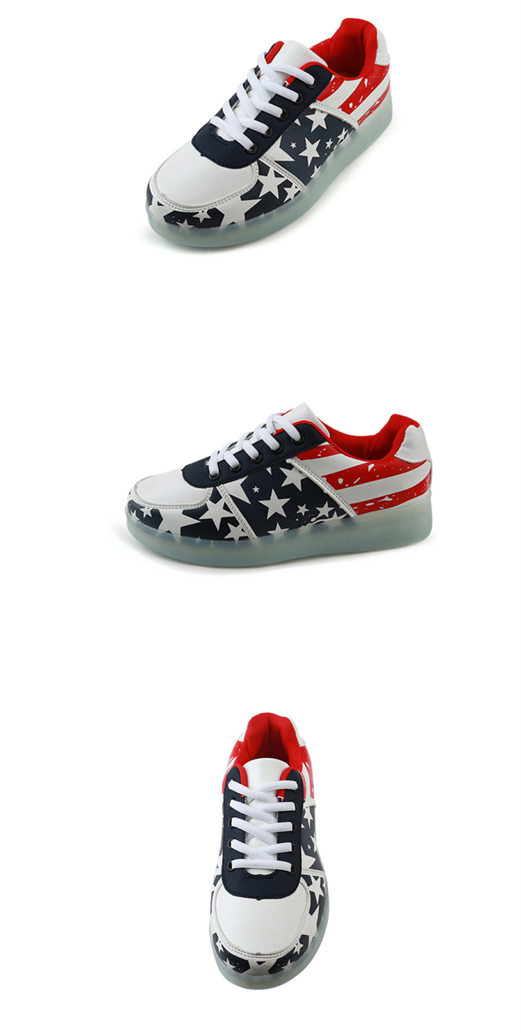 2016 High Quality PU Led Shoes Men DeepBlue Casual Shoes For Unisex Sport Luminous Led Light Up Shoes