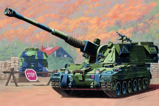 TRUMPETER MODEL 1/35 SCALE military models # 00324 British 155mm AS-90 howitzer plastic model kit(China (Mainland))