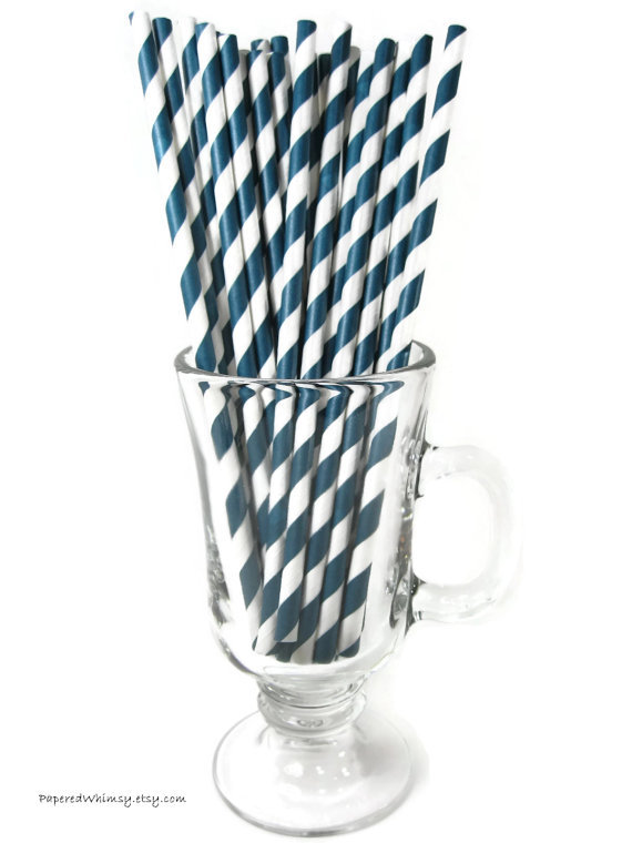 bpa free Navy Blue Stripe Straw ,wholesale 9inches striped plastic straw ,party striped water straw(China (Mainland))