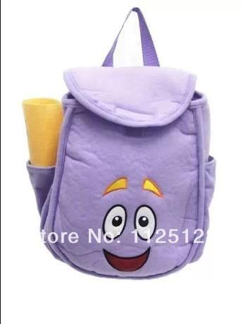 Дора исследователь плюшевые рюкзак для детей дошкольного сумка малышей размер сумка, Детей фиолетовый мешок