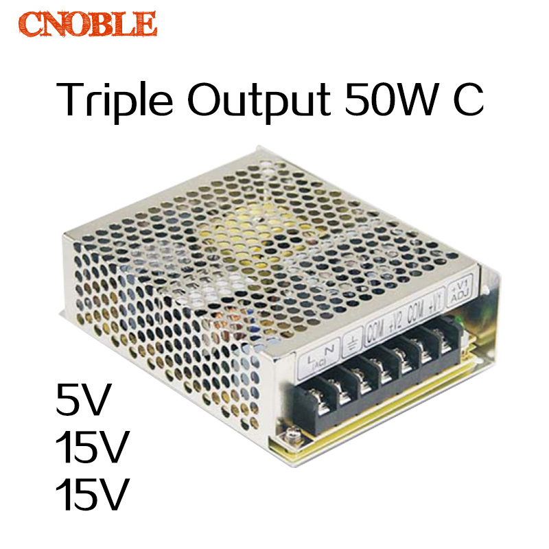 50W C Triple output 5V 15V -15V Switching power supply smps AC to DC<br><br>Aliexpress