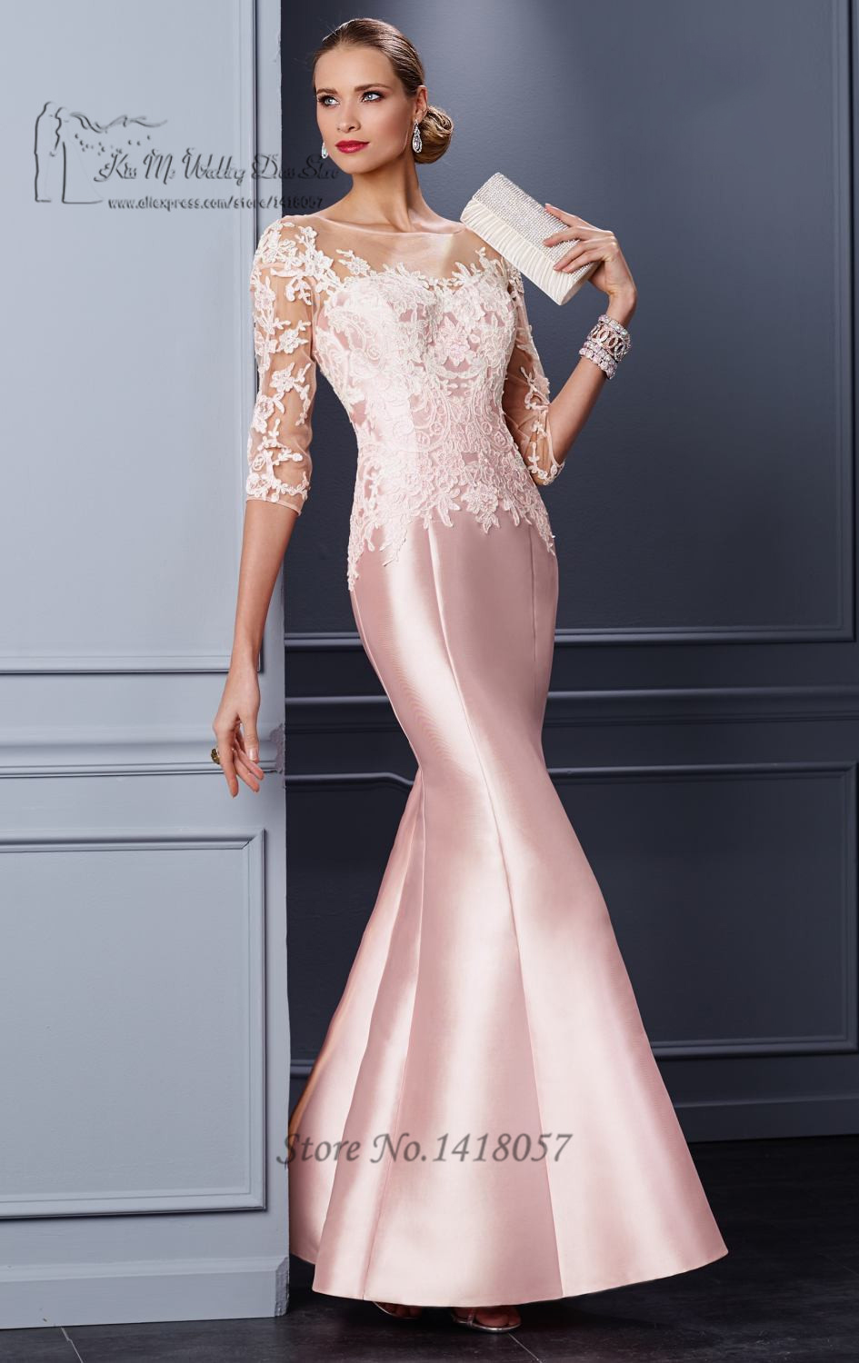 Pink formal mother groom evening gowns 2016 lace mothers for Dresses for afternoon wedding