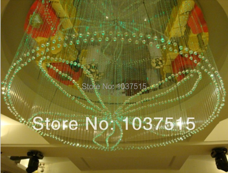 Crystal fiber ending pendant for star ceiling fiber optic lighting,100pcs/lot,different diameter,super bright,crystal end piece(China (Mainland))