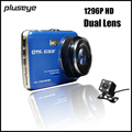 1296P Ultra HD Car DVR Dual Lens Dash Cam 4 0 Inch IPS Screen Night Vision