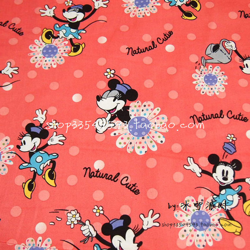 140*50cm 1pcs Coral Red 100%Cotton Fabric Patchwork Telas,Flower&Mini Printed Diy Sewing Baby Clothes Quilting Plain Tecido,Felt(China (Mainland))
