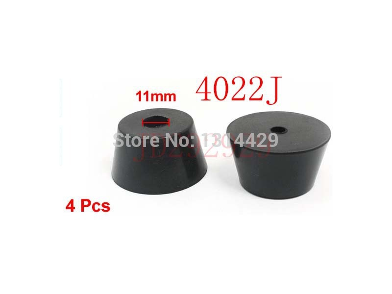 4Pcs Home Office 11mm Hole Diameter Furniture Table Chair Leg Protector Cone Shaped Black Rubber Feet Pads(China (Mainland))