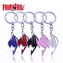 Buy 5 Colors Anime Keychain Fairy Tail Keychain Silver Plated Alloy Key Ring 2017 Fashion Jewelry llaveros porte clef Free for $1.49 in AliExpress store
