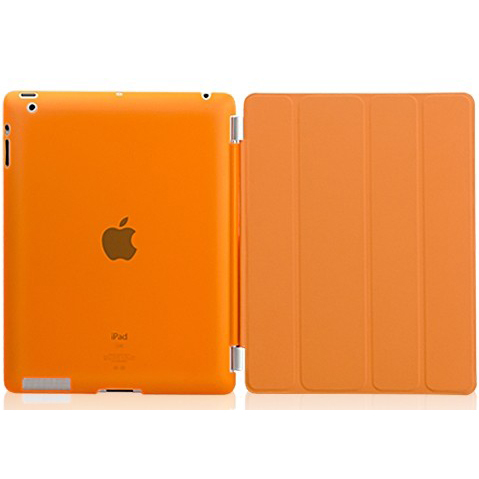 Гаджет  For iPad 234 1Pair/lot 1PC PU Leather Magnetic Front Smart Case Cover+1PC Dull Polish Clear Back Shell case Free Shipping None Компьютер & сеть