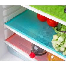 2016 Free shipping  blue 4 pcs Anti-bacterial Cuttable Refrigerator Mat Freezer Pad(China (Mainland))